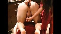 tight pussy stuffed with dildo